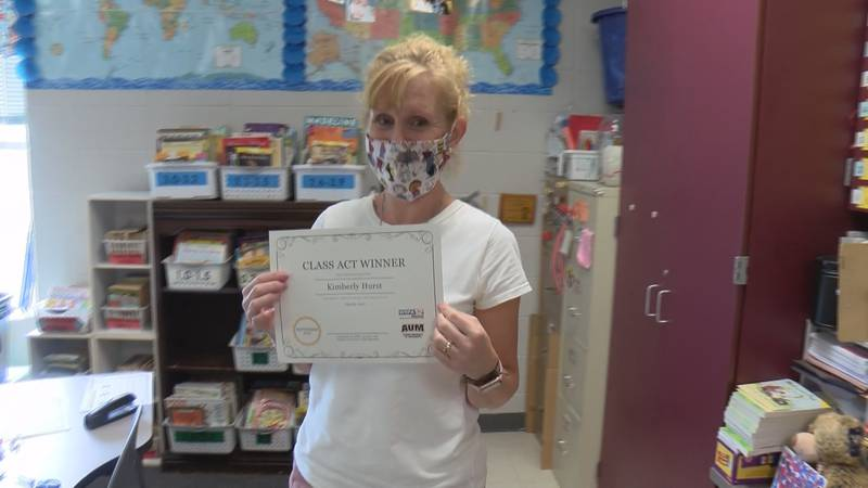 Kimberly Hurst, who has taught grade students at Coosada Elementary School for 26 years, is...