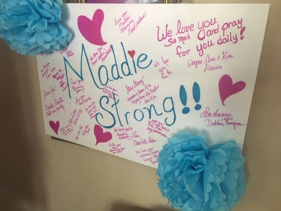 Maddie McClendon battles ovarian cancer after being diagnosed just 7 months ago.