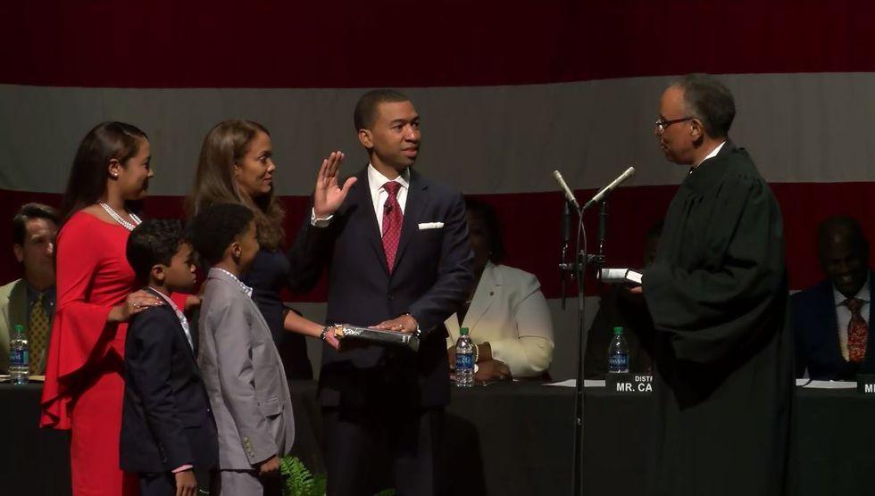Steven Reed is sworn-in as Montgomery's 57th mayor.