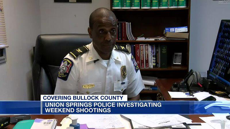 Union Springs police investigating weekend shootings
