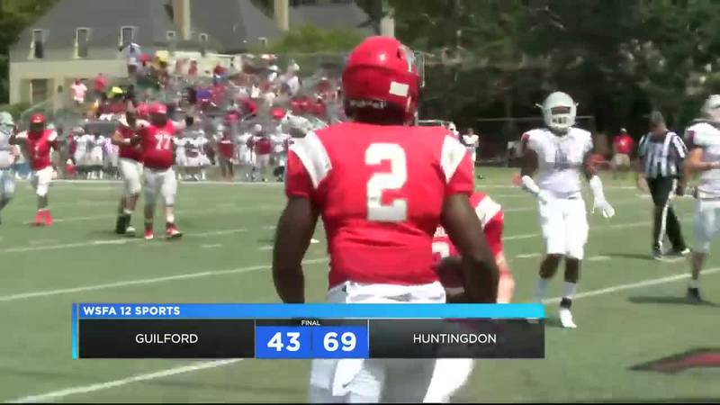 Huntingdon, Guilford combine for 112 points in Hawks win