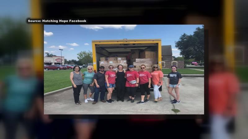 Hatching Hope volunteers help thousands of Hurricane Laura victims