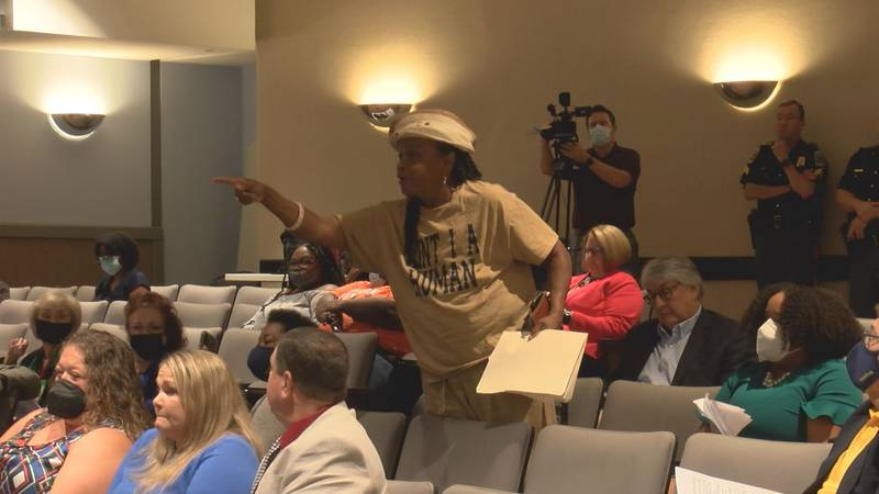 After the Board of Educations vote, Faya Rose spoke out of turn during the meeting.