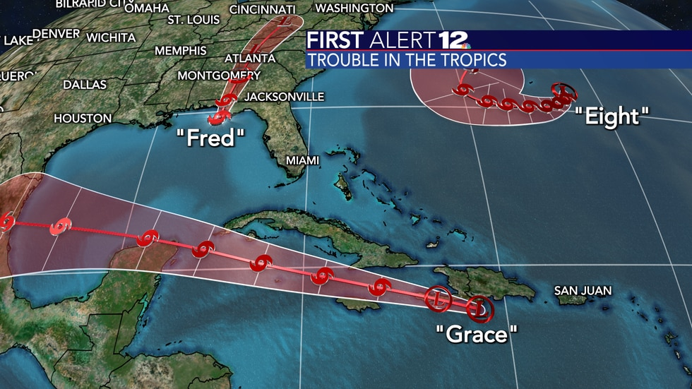 Other than Fred, we've got Tropical Depression Grace and Tropical Depression Eight. The latter...