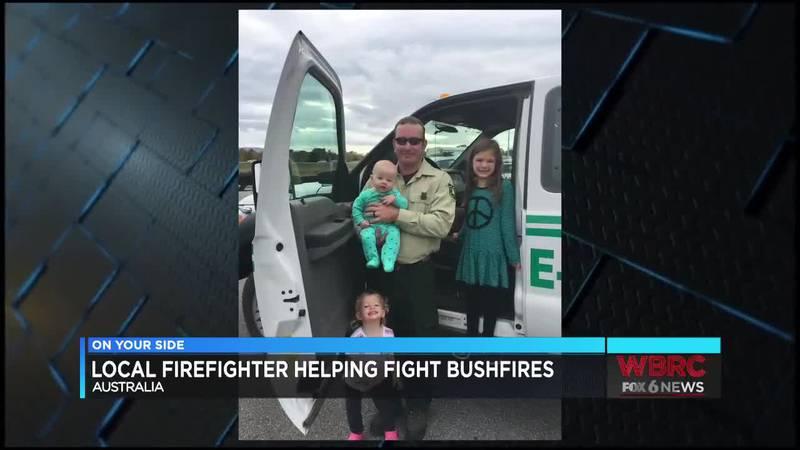 Local firefighter helping fight bushfires in Australia
