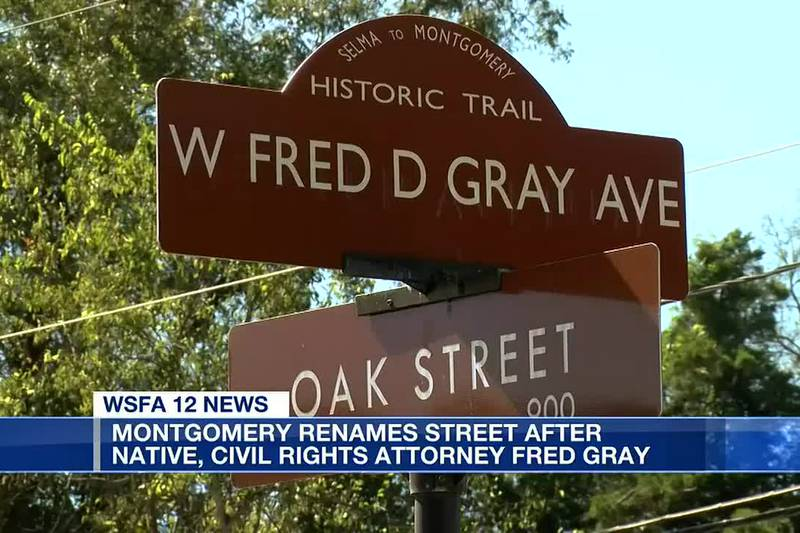 Montgomery street renamed for civil rights attorney Fred Gray