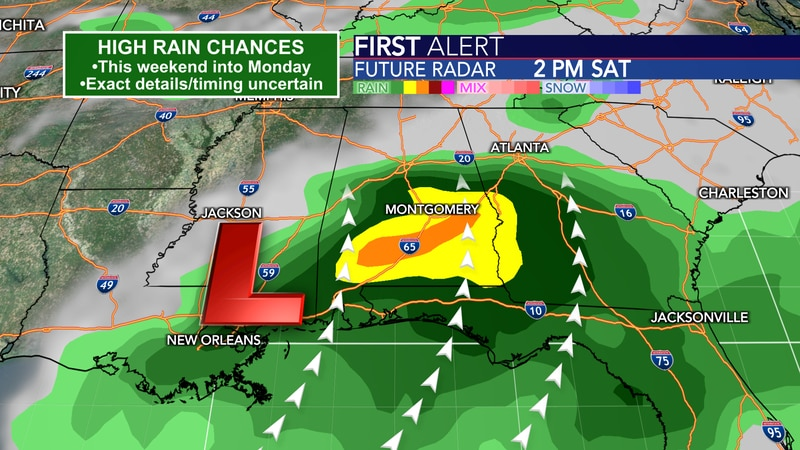 Heavy rain associated with a tropical disturbance is likely at some point between Friday night...