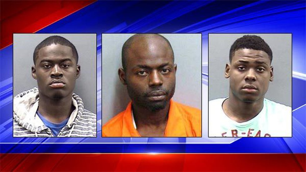 Kenneth Temple, Gacolby Green and Renauldous Chisholm (Source: Montgomery Police Dept.)