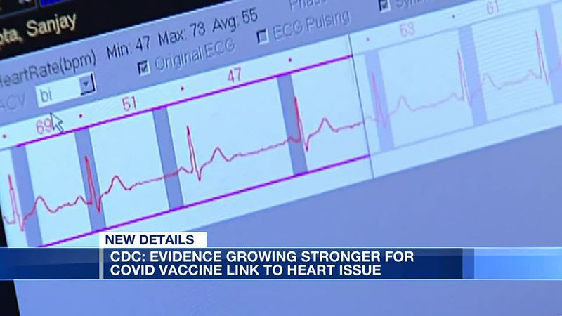 CDC: Evidence growing stronger for COVID-19 vaccine link to heart issue