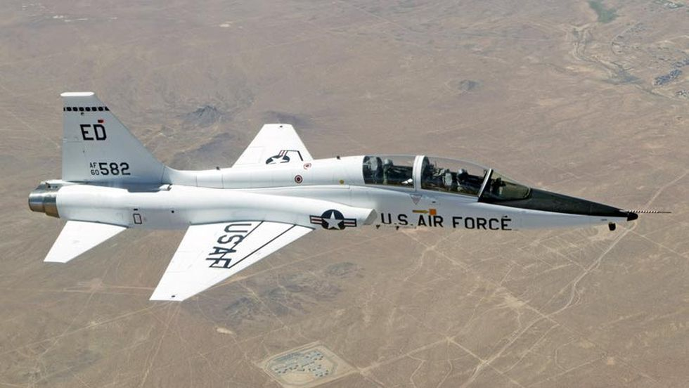 The two-seat T-38 Talon is a twinjet supersonic jet trainer used by the U.S. Air Force, U.S....