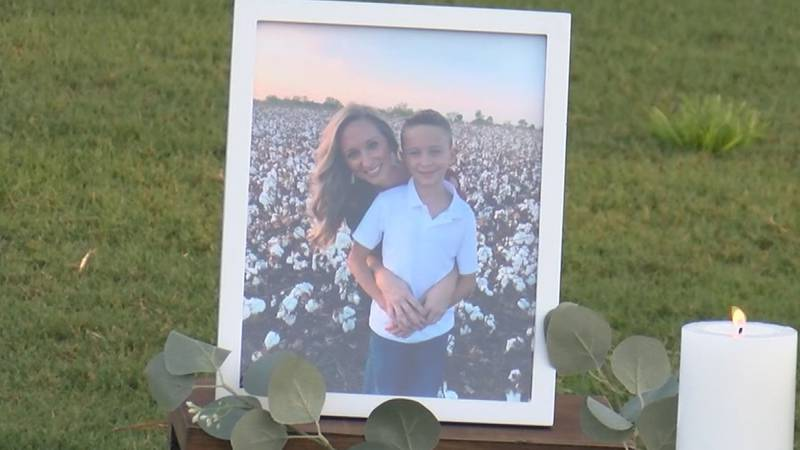 A prayer vigil was held on Aug. 13, 2021 for the family of Tate Buening.