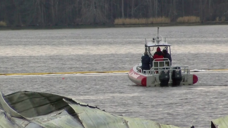 Crews search the Jackson County Park harbor for an unaccounted for boat