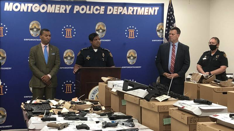 Montgomery's mayor and interim police chief held a news conference with law enforcement...