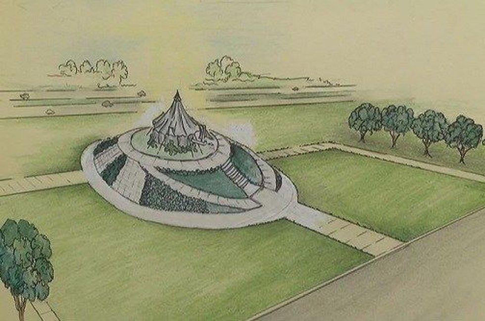Rendering of Tent City Memorial