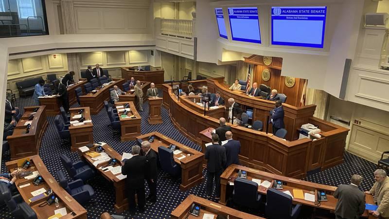 Alabama Senators debate election bills Thursday.