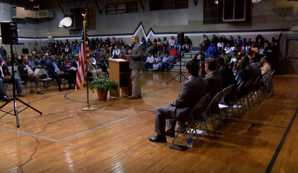 Hundreds of community members attended a vigil at Hayneville Middle School Monday night to...