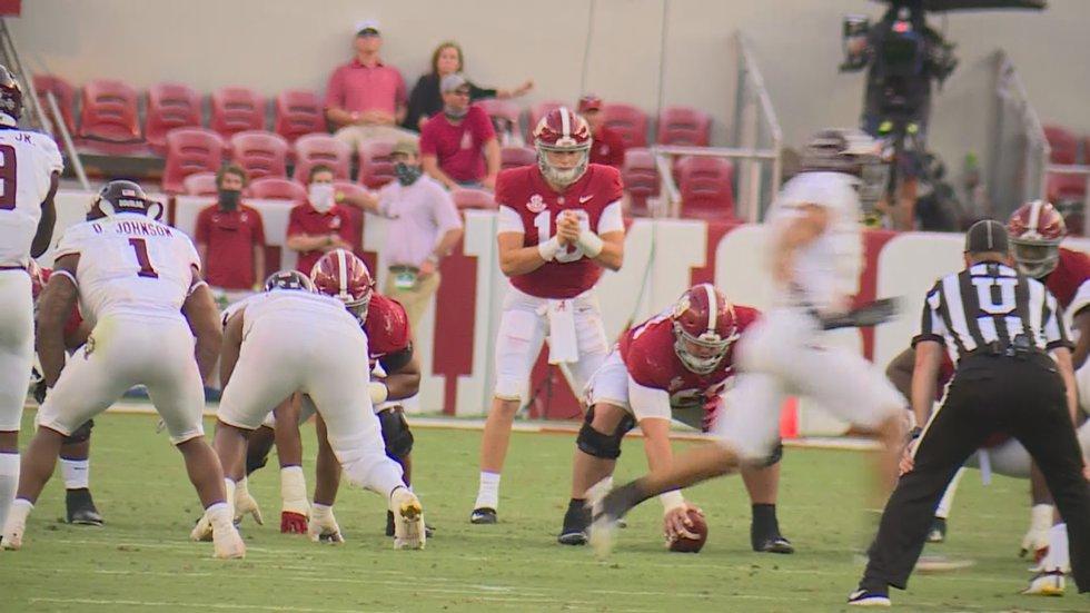 Alabama quarterback Mac Jones had a career-high performance in the Tide's 52-24 win over Texas...