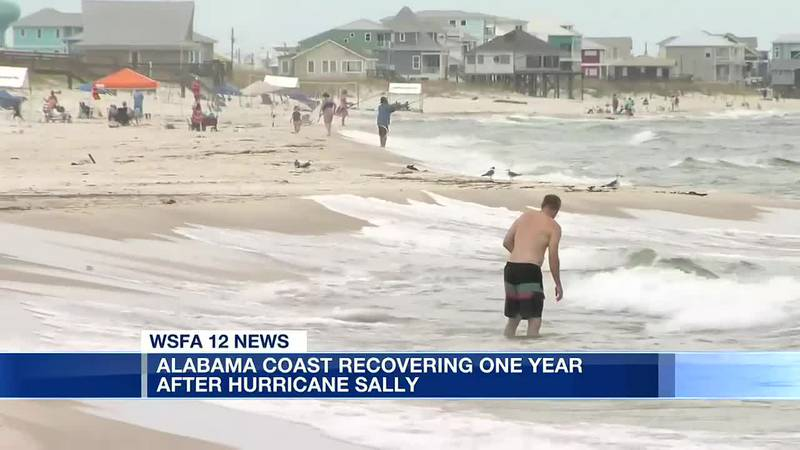 Alabama coast recovering one year after Hurricane Sally