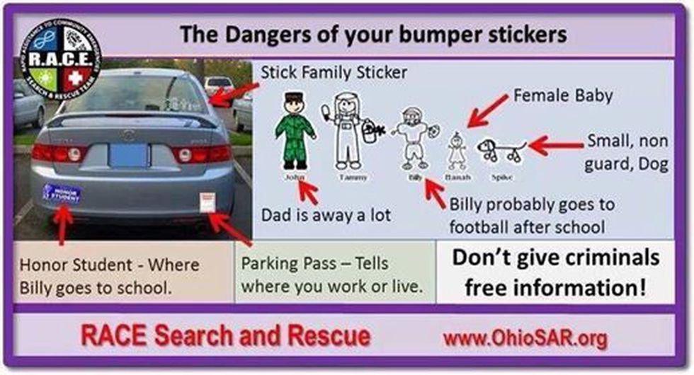 The photo shared by The Montgomery Public Safety Department on Facebook about the dangers of...