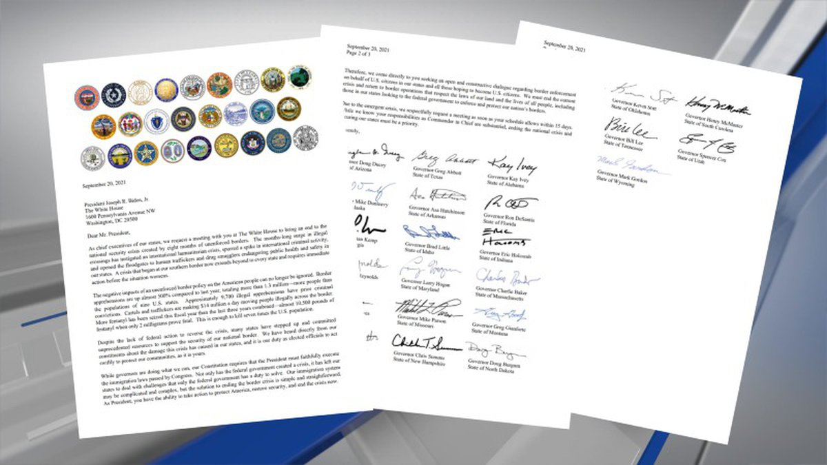 Alabama's governor has joined 25 other state chief executives in a letter seeking a meeting...