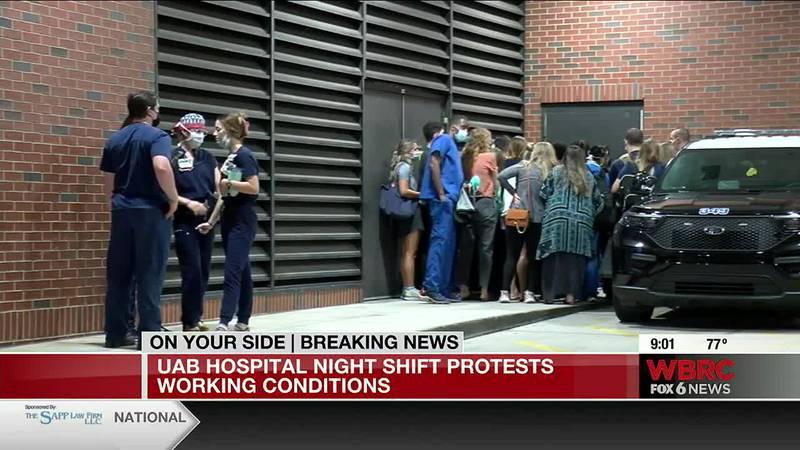 UAB nurses protest