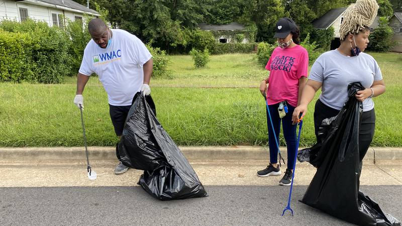 District 4 community cleanup.