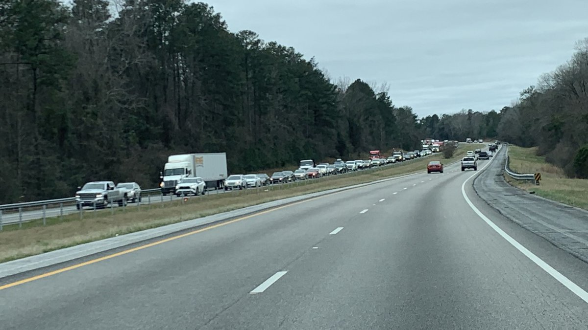 A vehicle fire on Interstate 85 northbound is causing delays, according to ALGO.