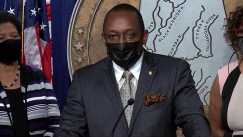 """""""I just want to say to Governor Ivey, if not now, when?"""" said state Sen. Bobby Singleton,..."""