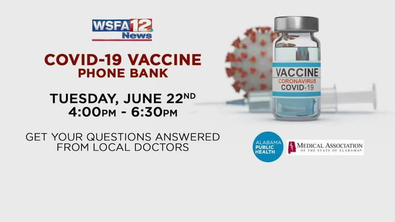 WSFA to hold COVID-19 vaccine phone bank