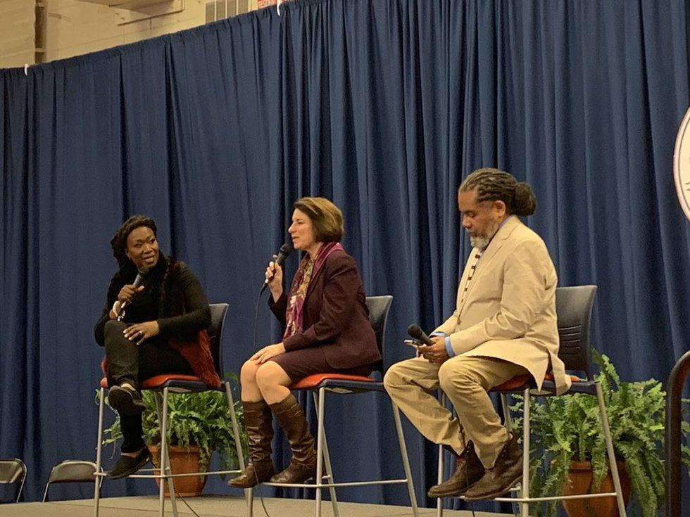 Sen. Amy Klobuchar takes the stage at Selma's presidential forum.