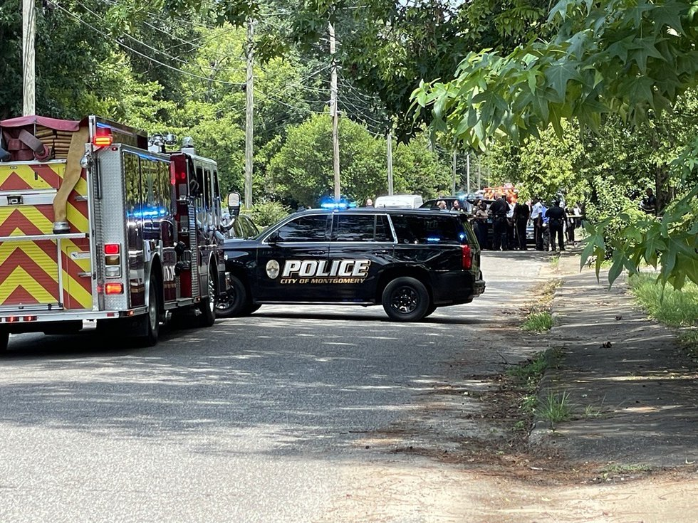 Two people are dead after a shooting on Rotary Street in Montgomery Wednesday, June 23, 2021.