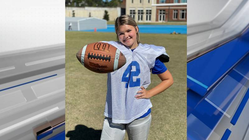 Ellie Rodning made history last week by becoming the first girl to score points in a football...