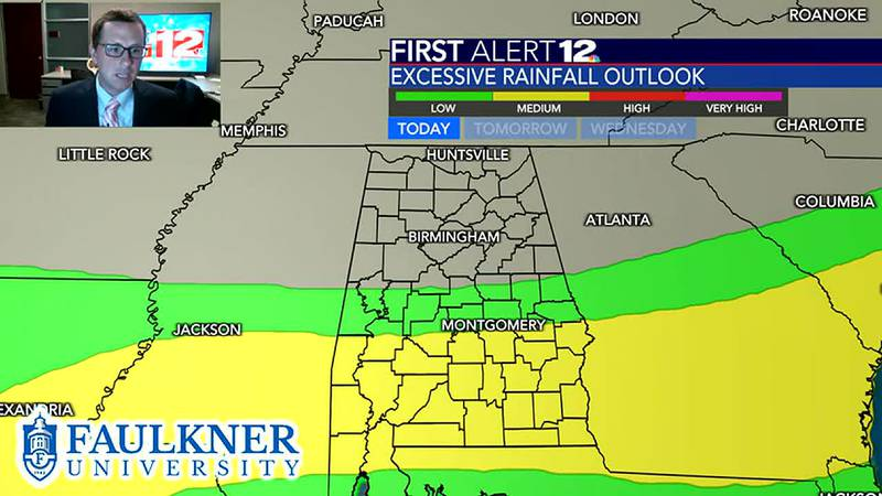 Rain and storms likely today with heavy rain threat