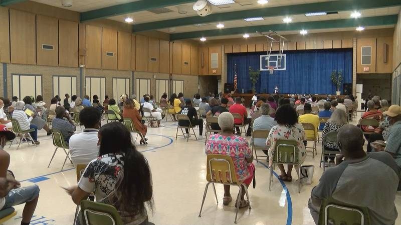 There was a large turnout at the Town Hall, spearheaded by newly elected District 3 City...