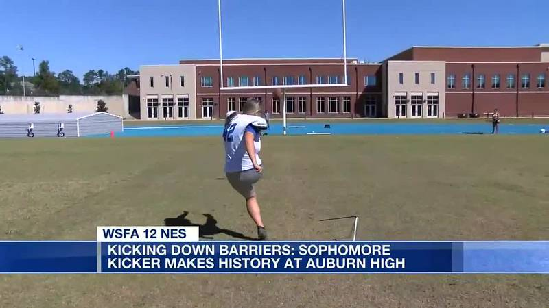 Kicking down barriers: Sophomore kicker makes history at Auburn High