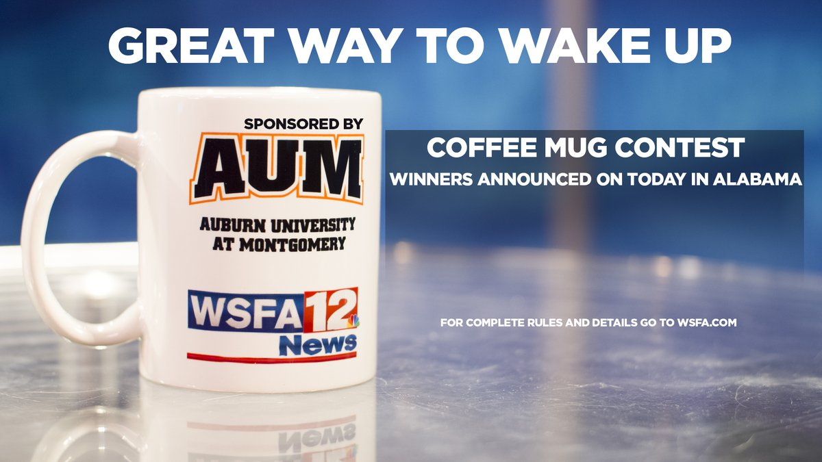 One winner will be selected daily to win a Today in Alabama coffee mug.