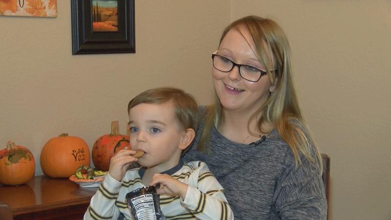 Ashley Bell and her little boy, Jaxon Jordan.