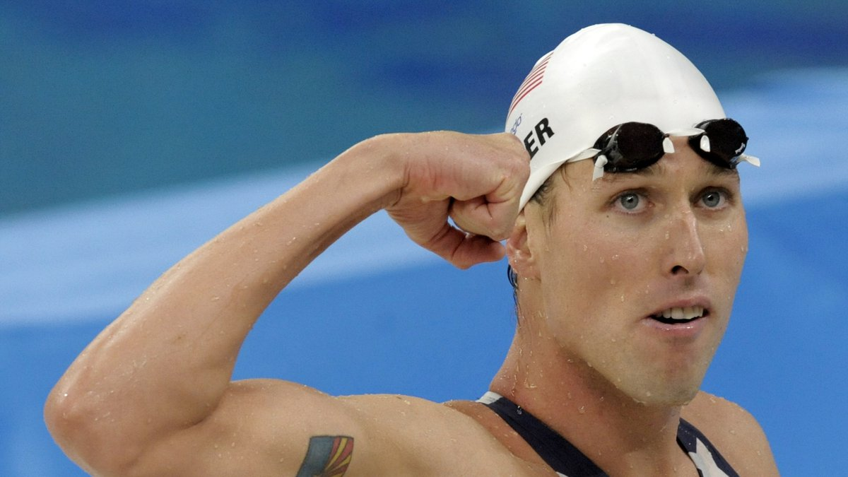 FILE - This Aug. 12, 2008, file photo shows United States' relay swimmer Klete Keller at the...