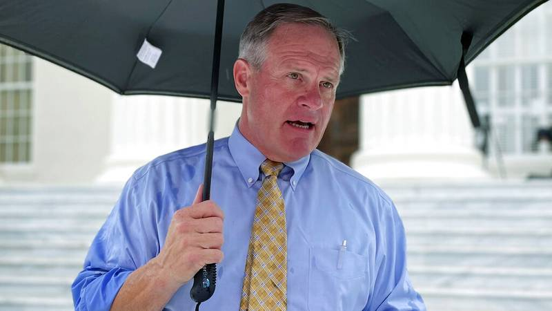 Former gubernatorial candidate Tim James speaks to reporters during a news conference,...