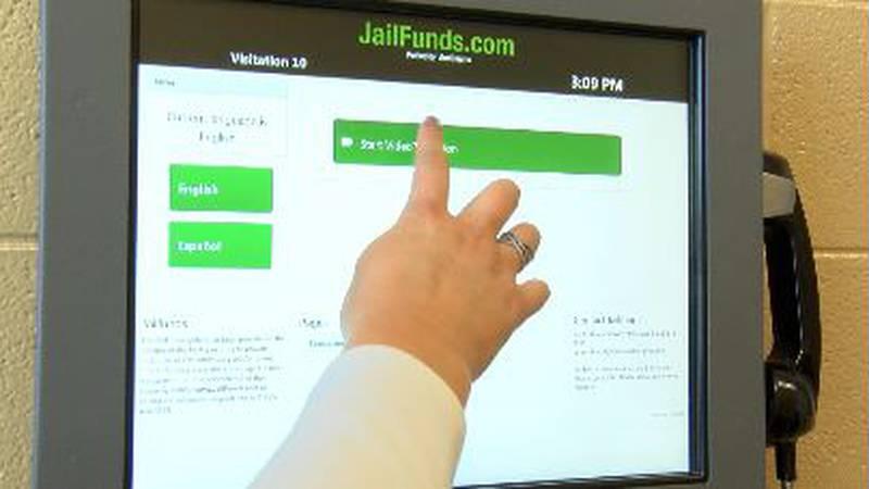 Inmates at the Morgan County jail have access to video chat and calls virtually.