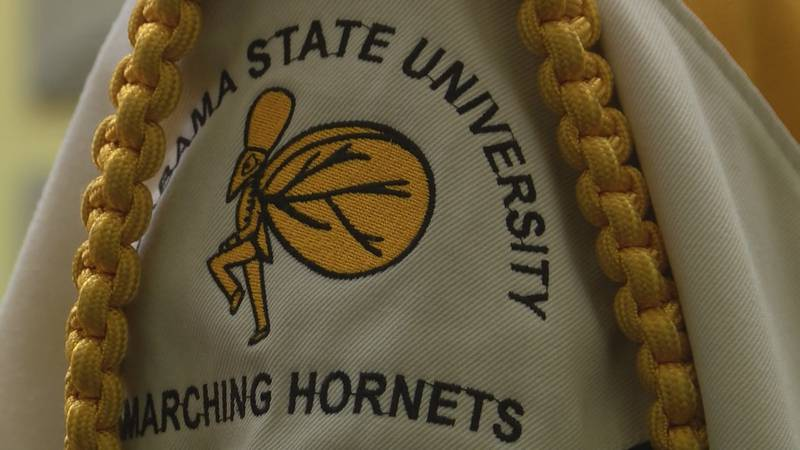 The Alabama State University Mighty Marching Hornets band will play during halftime at the...