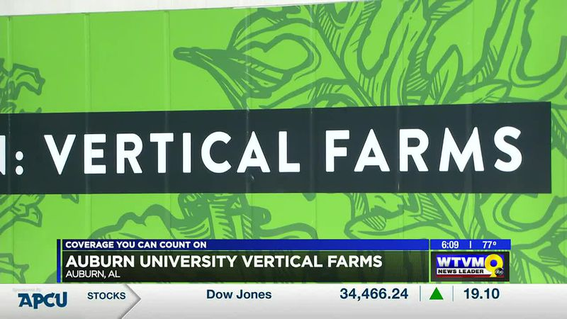 Auburn University converts shipping containers into vertical farms