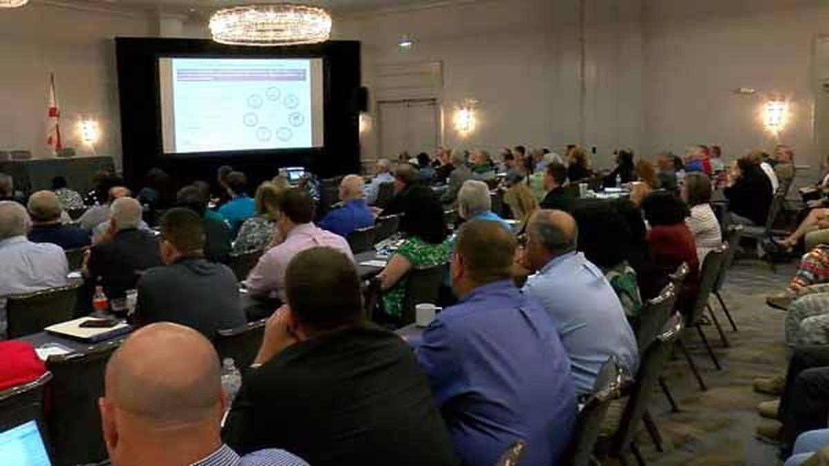 First responders, emergency management coordinators and directors came from around the state...