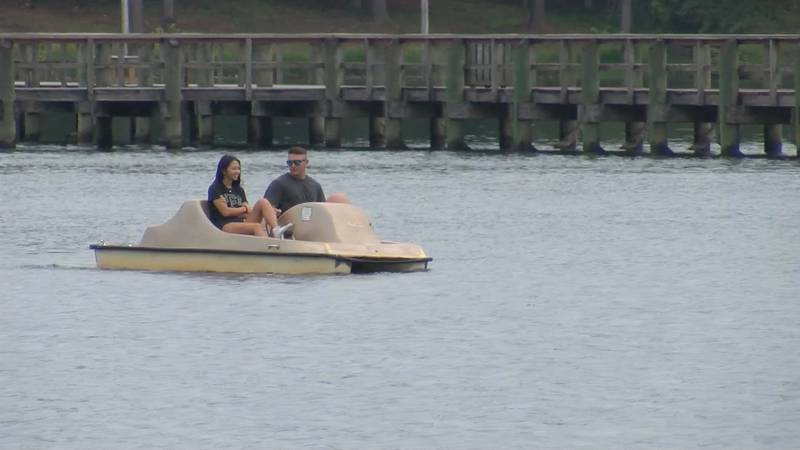 Lake goers are visiting Lake Martin this holiday weekend.
