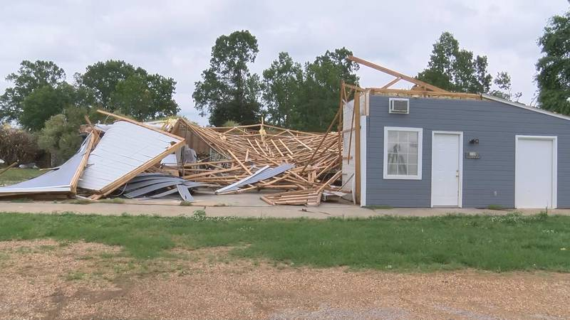 A man's barn living off of Cobbs Ford Road was completely destroyed.