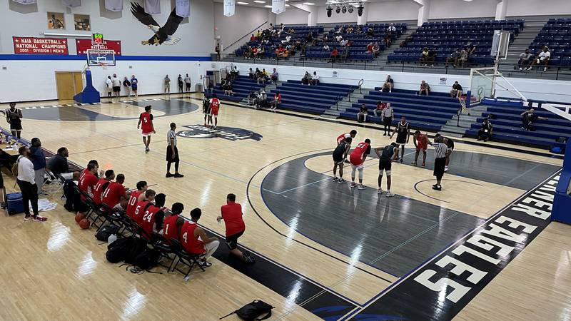 24 junior colleges took the courts at Faulkner to play in front of more than 200 NCAA coaches...