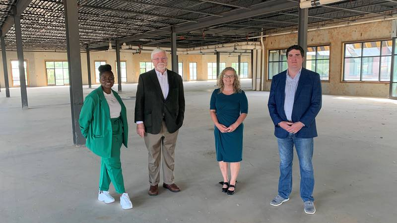 School leaders of Ivy Classical Academy stand in the middle of what could become the future...