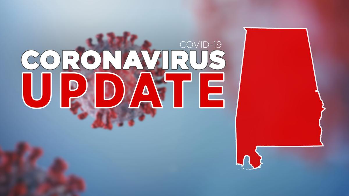 Coronavirus numbers across the state of Alabama.