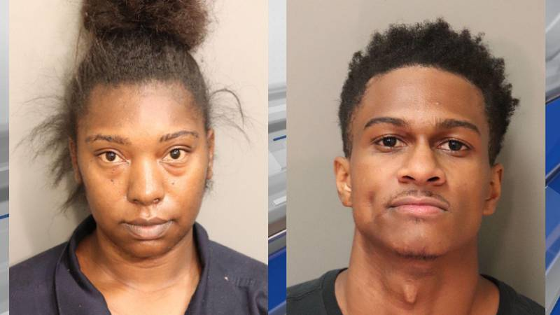 Sade Thomas and Deundray Jackson are both charged with discharging a firearm into an occupied...