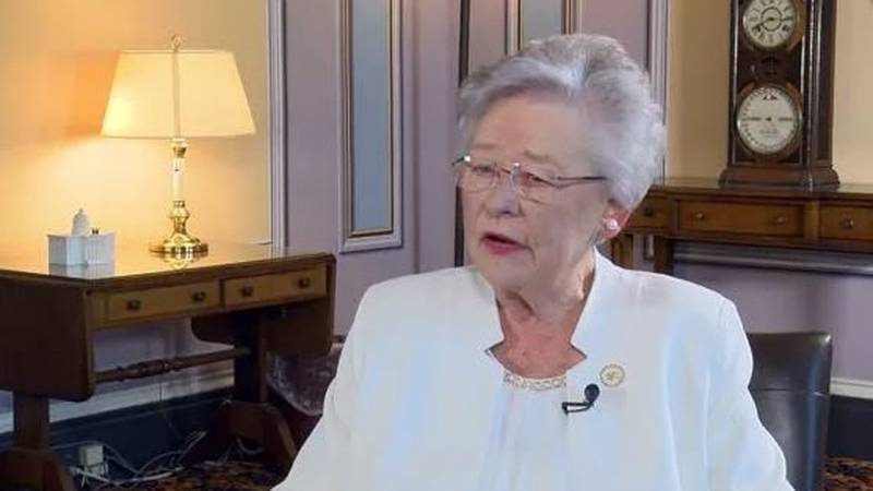 Alabama Gov. Kay Ivey says her campaign Facebook page was temporarily banned Tuesday morning.